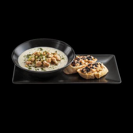 Скандинавський суп із лососем (270/70г)